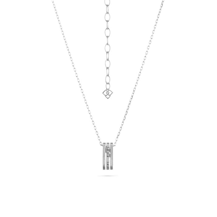 MATERjewellery tales LINES WhiteGold 18kt Diamonds Pendent984