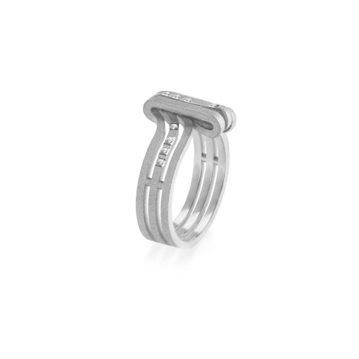 MATERjewellery tales LINES WhiteGold 18kt Diamonds Ring 1501
