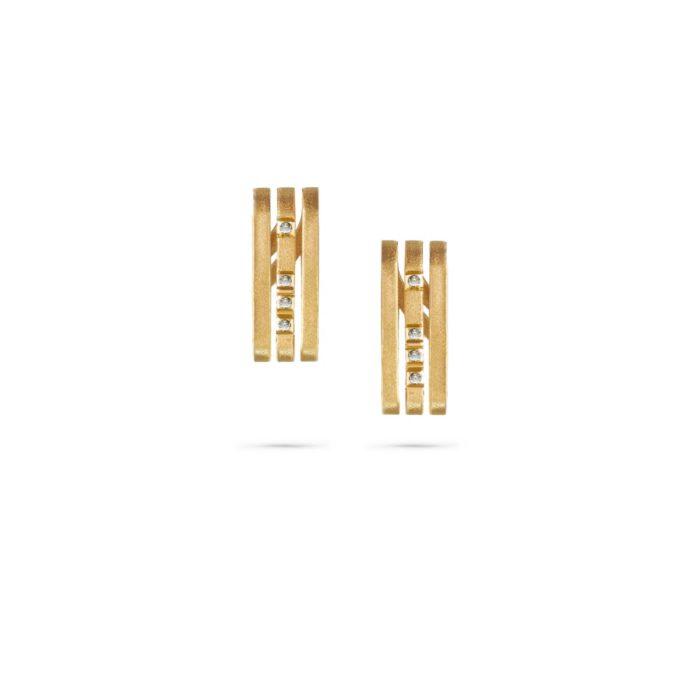 MATERjewellery tales LINES YellowGold 18kt Diamonds Earrings 1181