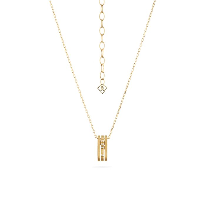 MATERjewellery tales LINES YellowGold 18kt Diamonds Pendent984